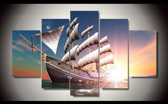 HD Printed Dawn Sailboat