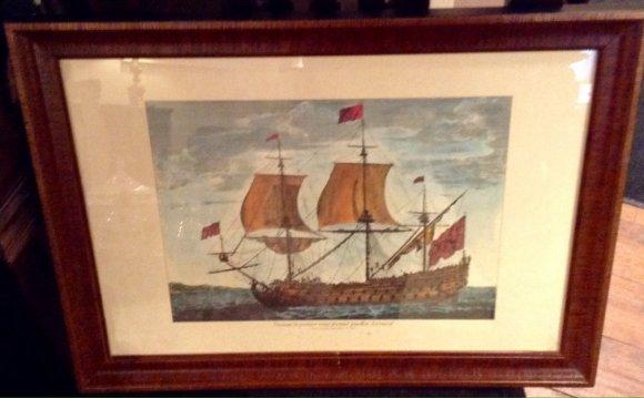 Vintage sailing ship print