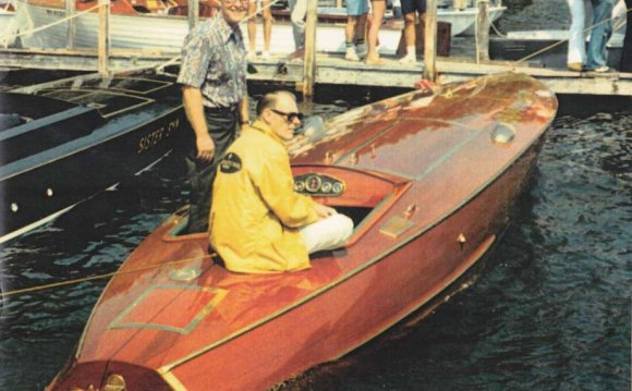 Of his wooden racing boats