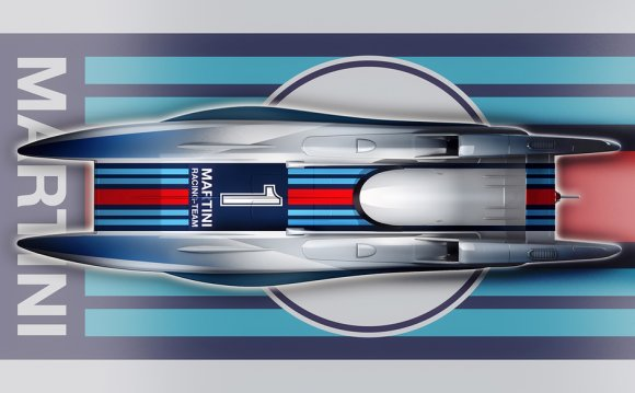 Martini racing boat design by