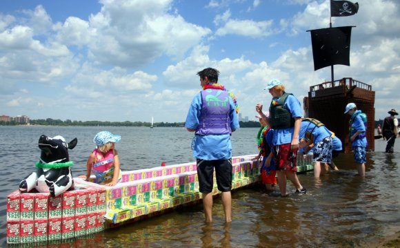 Milk Carton Boat Race at the