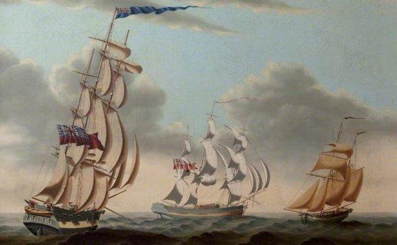 Three English Sailing Ships