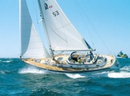A Beneteau 57 doing what it will best