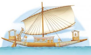 A royal ship from old Egypt