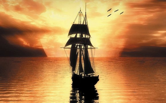 Sailing on the ships of heaven