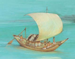 Nile sailing vessel, ancient Egypt