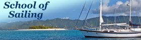 Sailboat anchored in paradise