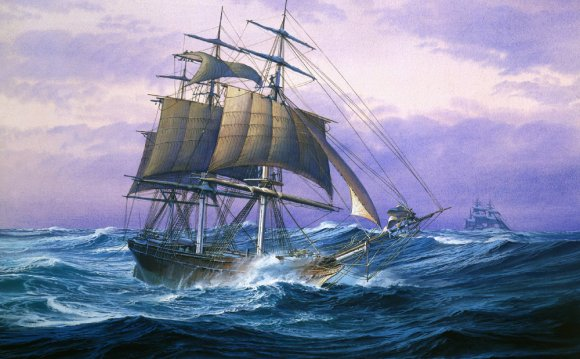Paintings of old sailing ships