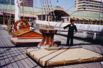 Spar deck of USS Constellation