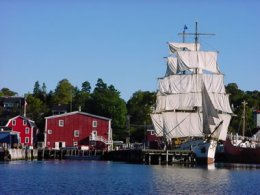 Tallship Picton Castle docked in Lunenburg