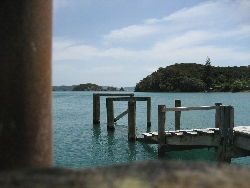 The Bay of isles pier in New Zealand