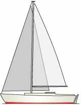 The sloop is a two-sail fore-and-aft rigged sailboat