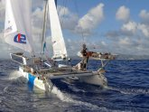 Catamaran sailing around the world