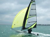 Single handed Dinghy sailing