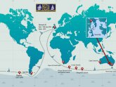 Single handed sailing race around the world